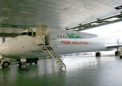 Rotulación córporea en avión