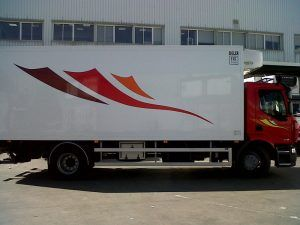 Camión con decorativo