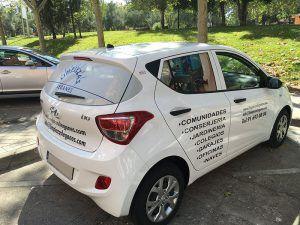 Global Rótulos coche con rotulación publicitaría